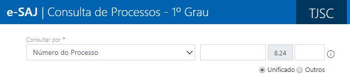 TJ SC Comarcas e Consultas Online de Processos e Impressão de Documentos / Portal ESAJ